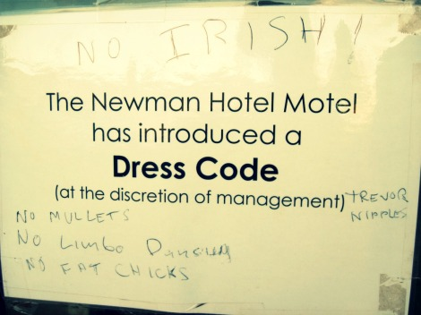 Newman Western Australia motel dress code