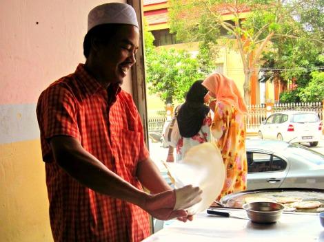 making roti Malaysia
