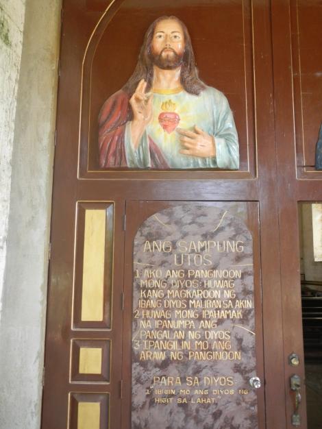 The Ten Commandments, written in Cebuano