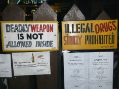 Security signs, Cebu, Philippines