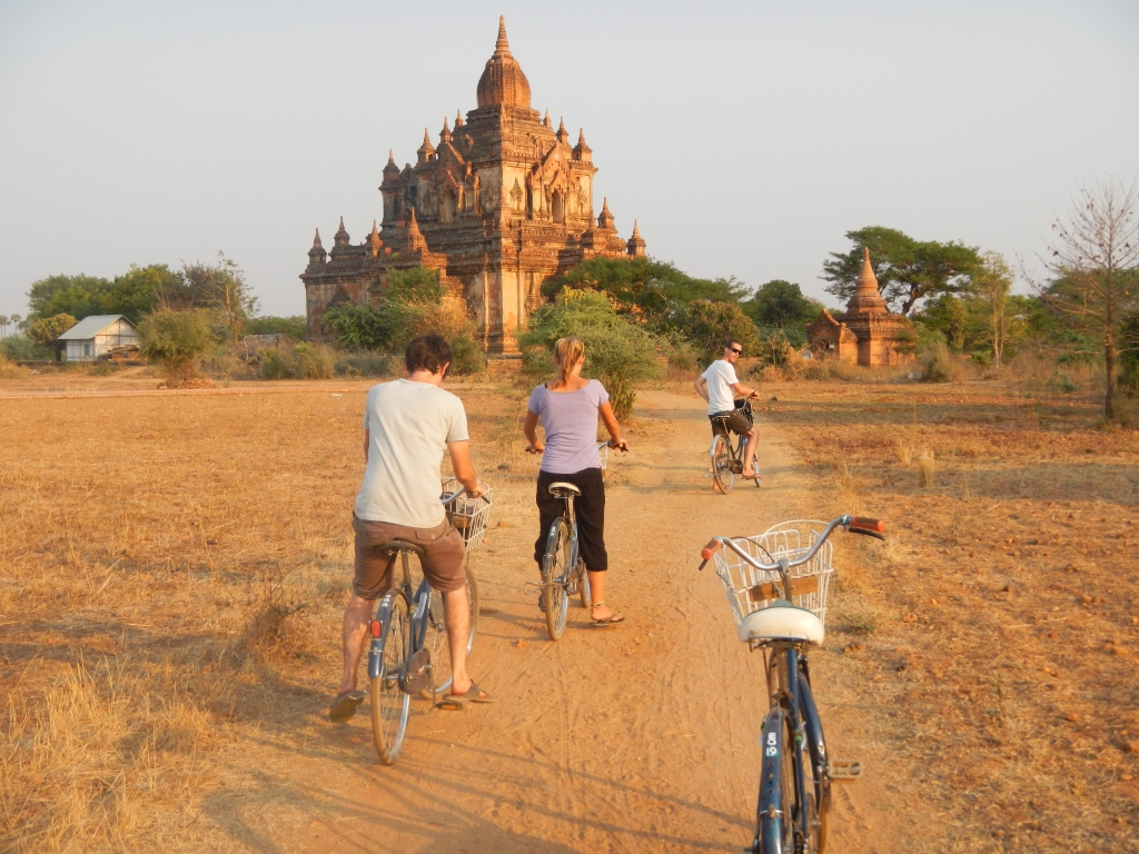 Biking around Bagan, Burma