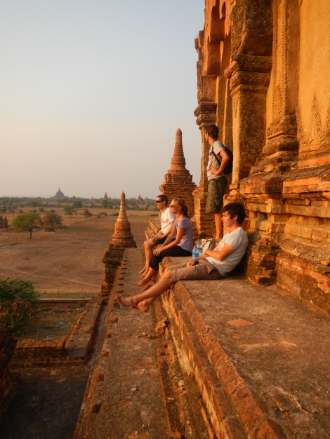 Watching the sunset, Bagan, Burma