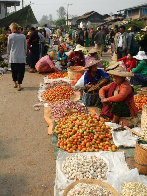 Markets in Kalawy, Myanmar
