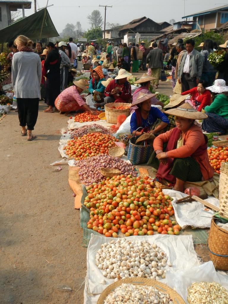 Markets in Kalawy, Myanmar