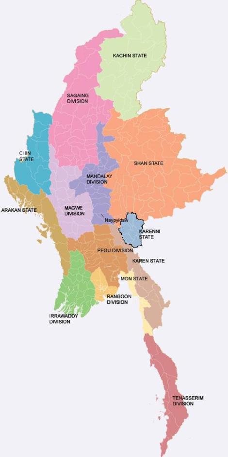 Karenni State, Ethnic States of Burma
