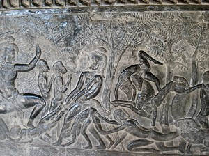 Bas Relief, Angkor Wat, Cambodia