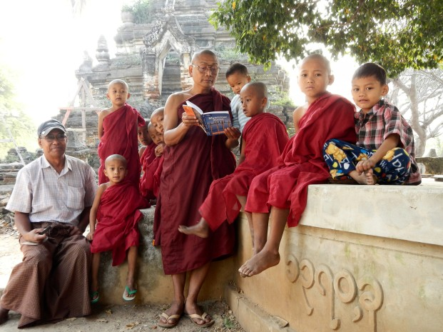 Monks the Lonely Planet in Halin, Burma
