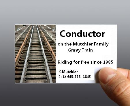Conductor business cards for the long-term traveler