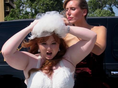 A big, windy wedding