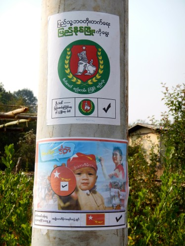 Political posters, Kalaw, Burma