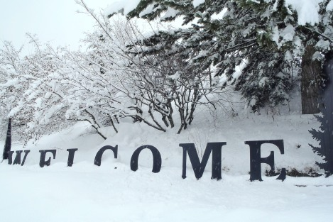 """My welcome to the mountain town of Revelstoke, B.C., Canada, was 1"""" snow and a pair of water-proof boots."""
