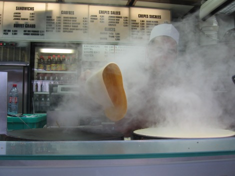 Crepe stall window, Paris, France