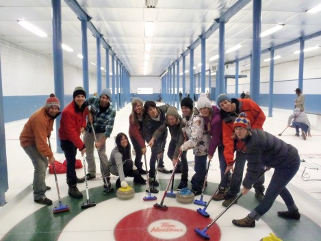 Curling team, Revelstoke, Canada
