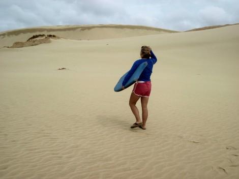 Sandboarding, Te Paki, New Zealand