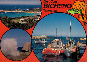 postcard Bicheno, Tasmania
