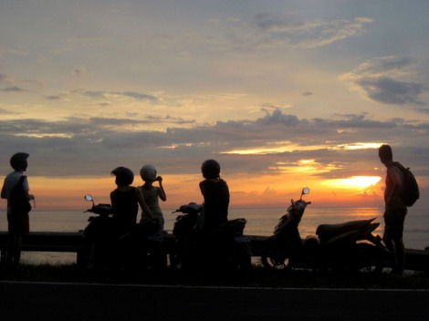 silhouette Lombok Indonesia