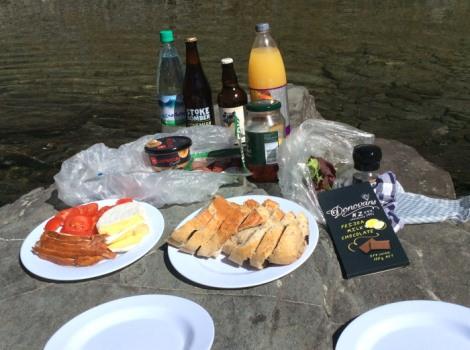 picnic on Cecil Peak