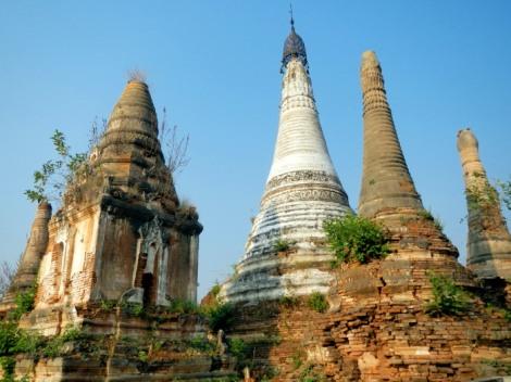 abandoned monestaray Inle Lake Myanmar