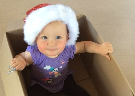 baby celebrates Christmas in New Zealand