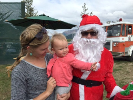 Santa Claus visits New Zealand