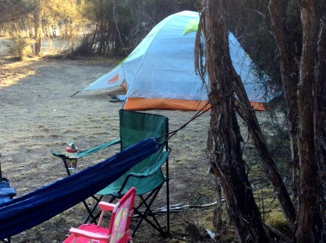 camping with baby in New Zealand