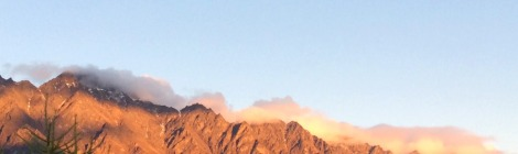 Remarkables mountain range at dusk