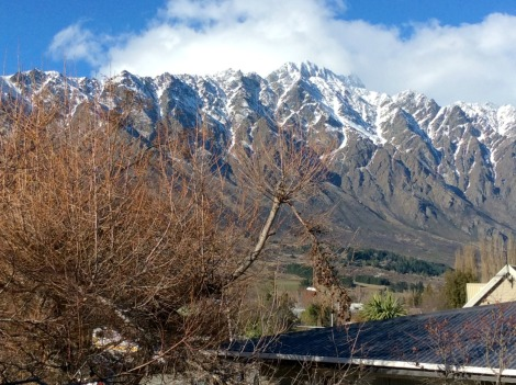 snow on the Remarkables range