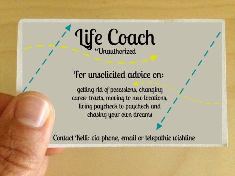 business card life coach