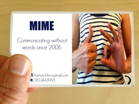 business card mime