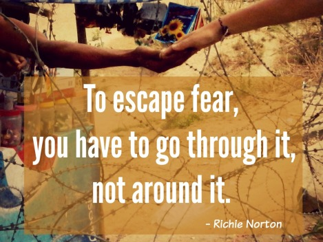 travel quote about fear, Richie Norton