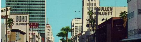 postcard Wilshire Boulevard, Santa Monica