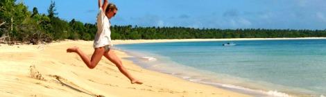 adventure travel beach jump Tonga