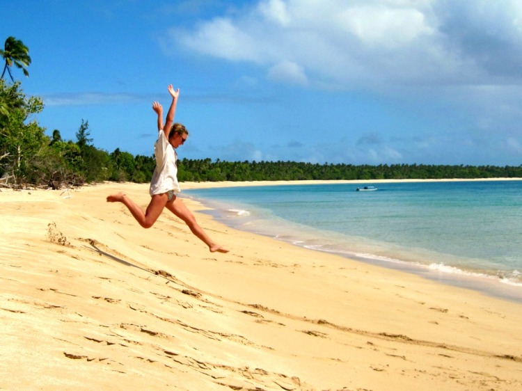 adventure travel beach jump Tonga