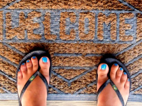 home, welcome mat