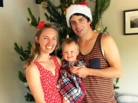 celebrating holidays with kids family photo
