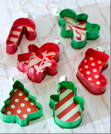 It All Started With Paint cookie cutter ornaments