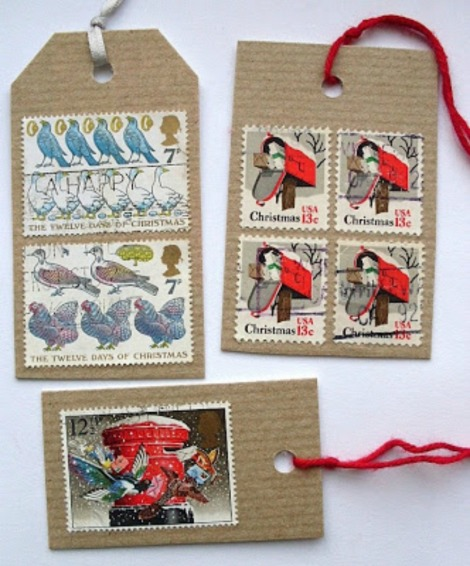 Paper & Stitch postage stamp giftwrap