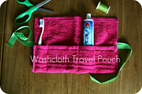 WhimSy love washcloth travel pouch