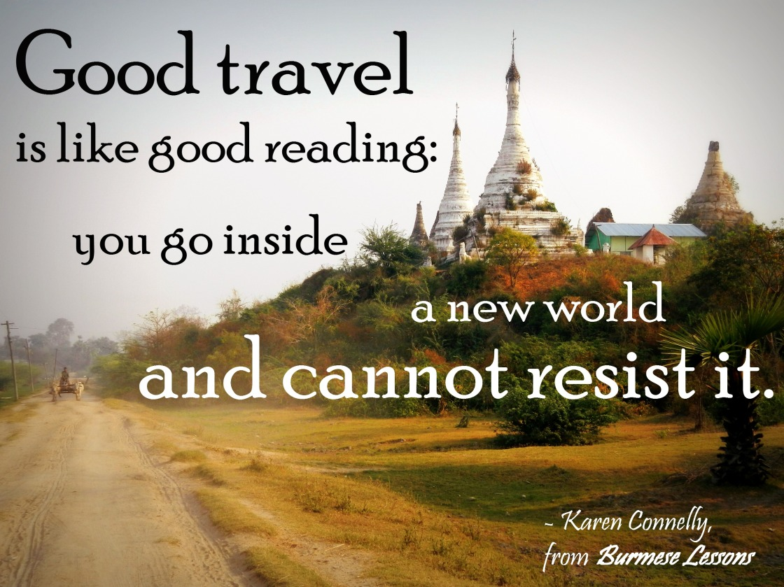 travel quote Karen Connelly