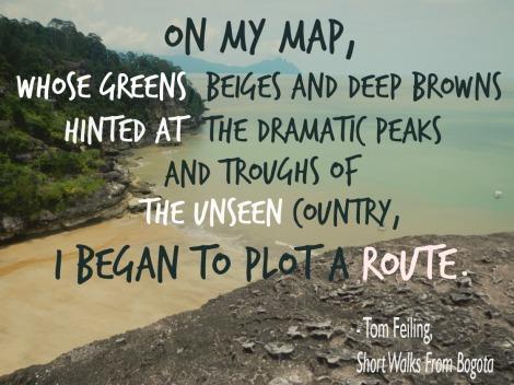 travel quote, Columbia, Tom Feiling