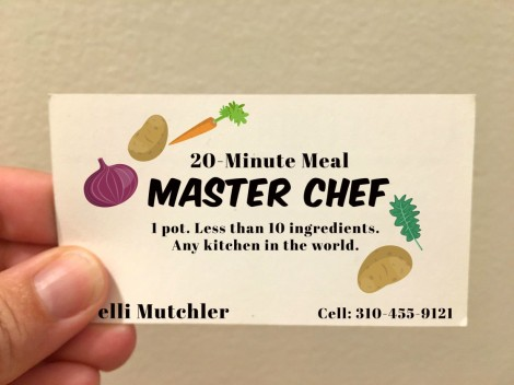 Master Chef long-term travel business card