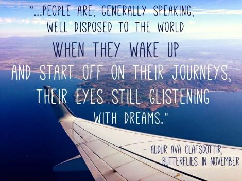travel book Butterflies in November Olafsdottir