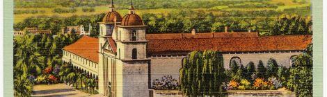 postcard Mission Santa Barbara