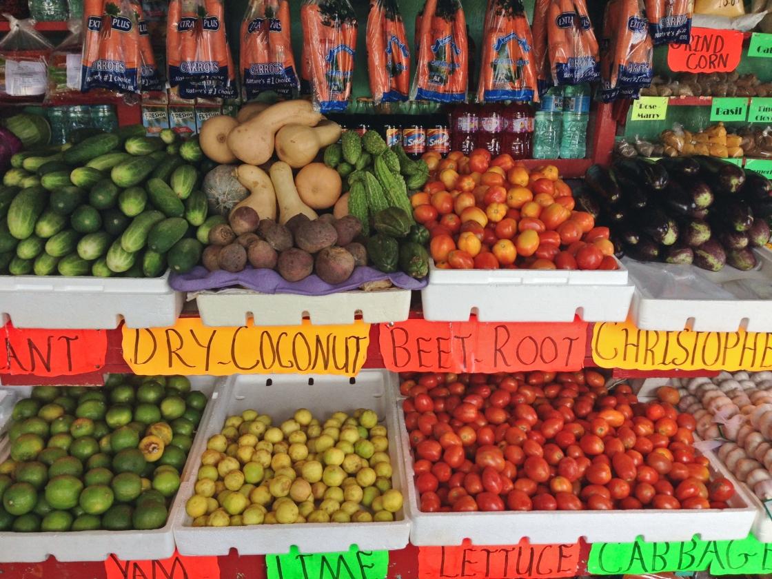 farmers market stall trinidad