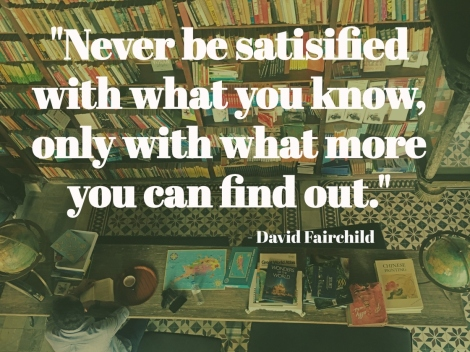 travel quote about food, David Fairchild