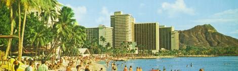 Vintage Postcard Waikiki Hawaii