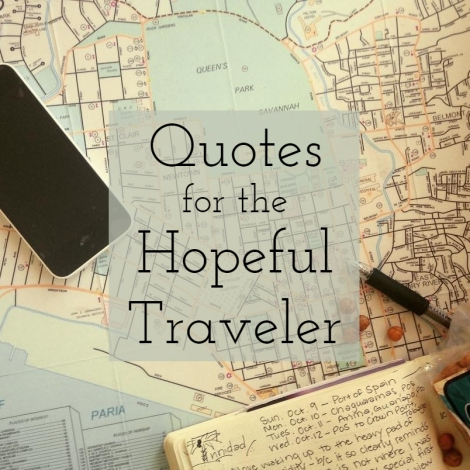 quotes for the hopeful traveler