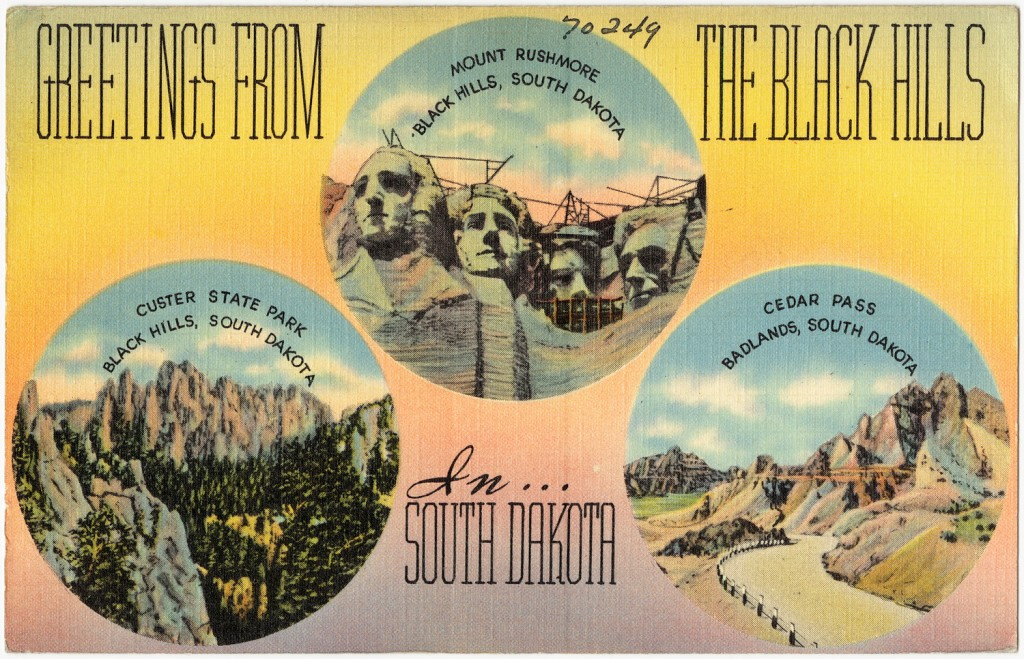 vintage postcard Greetings from the Black Hills